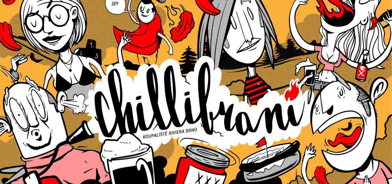 Hravá grafika Chillibraní 2019 z dílny YVANSe